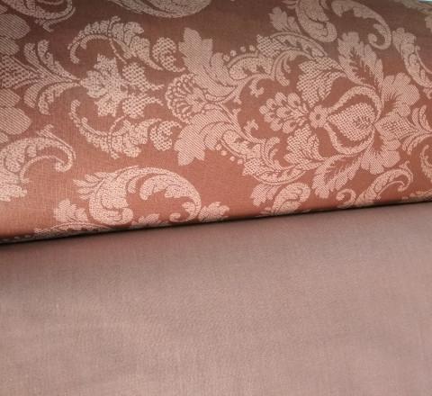 Поплин ш220см. Жаккард на коричневом фоне