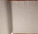 Бязь Ranforce желтые звезды на белом фоне маленькие