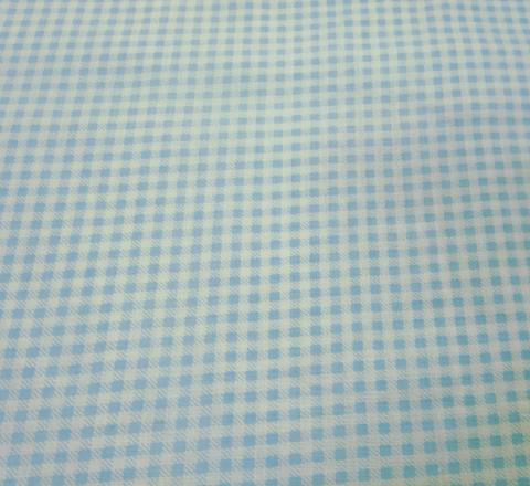 Бязь модная. Голубо-белая клетка